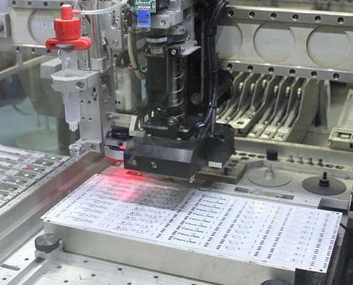 LED components placed onto LED light engine PCB