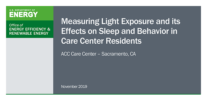 ACC Care Center Circadian Lighting Report on Sleep Effects