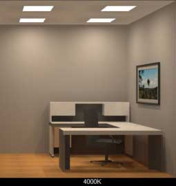 Tunable White LED Office Lighting 4000K