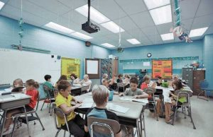Tunable White LED Classroom Lighting