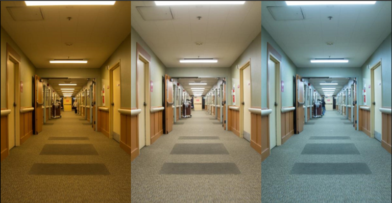 Tunable LED Lighting in Nursing Home Hallway