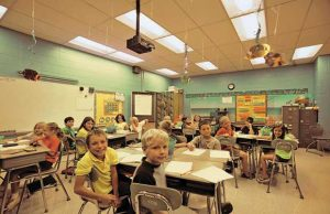 Tunable warm-white LED Classroom Lighting