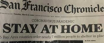 Virus newspaper headline