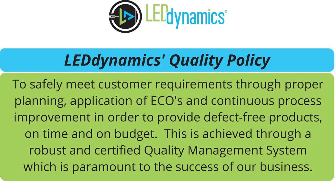 LEDdynamics Quality Policy